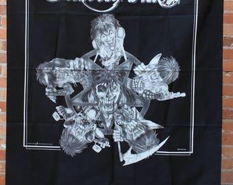 Motley Crue Original 1991 NOS Pentagram and Band Members Banner Flag