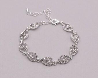 Rhinestone Bridal bracelet, wedding bracelet, rhinestone crystal bracelet, crystal bracelet, bridal jewelry, Annabel Crystal Bracelet