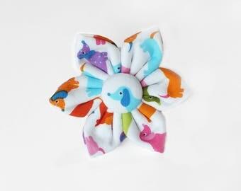 Mini Dachshund Flower for Dog collar, Cat collar, collar flower, pet collar flower, wedding flower, flowers for dog collars