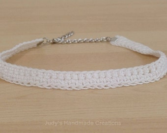White or Black Lace Choker, Red Choker, Black Choker or White Choker,Crochet White or Black Choker, Choker Necklace,Popular Necklace