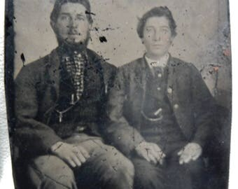 Antique tintypes ferrotypes memento mori circa 1865