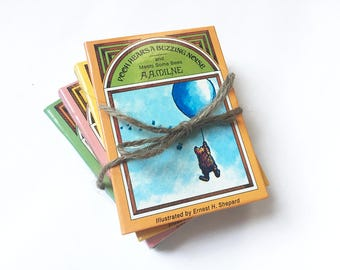 1981 WINNIE THE POOH Mini Books - Classic Pooh, A. A. Milne, Illustrated, Vintage, Baby Gifts, Baby Shower Gifts, Childrens Books, Eeyore