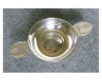 Polished Pewter 'Quaich' Cup