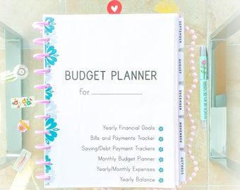 FINANCIAL PLANNER Big Happy Planner Printable Finance Letter Organizer Set Monthly Financial Binder Inserts Expense Tracker Instant Download