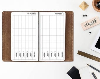Public Relations Point tracker Travelers Notebook - PR Points - Design Team - Team Calendar - Girl Boss Collection - Pocket size