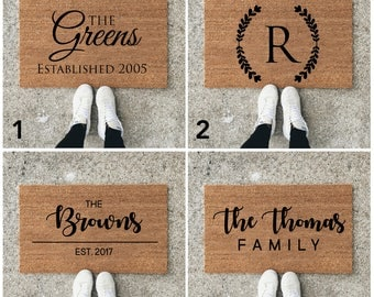 Custom Door Mat, Personalized Doormat, Door Mat, Doormat, Door Mat Personalized, Rug, Customized Doormat, Newlywed Gift, Unique Gift