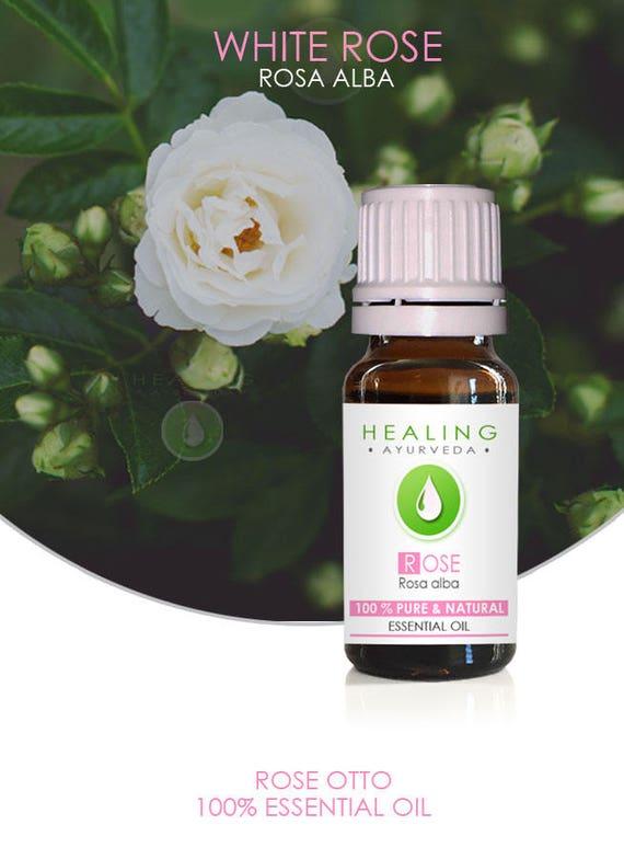 White Rose Otto- Rosa alba essential oil- 100% Rose oil- Rose Essential oil-  Natural Skin care -White Rose oil- Bath & beauty care- Otto