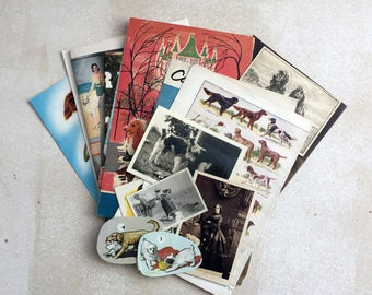 A selection of vintage dog ephemera perfect for the dog lover. Pack for art, collage or journaling.