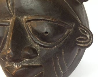 FREE SHIPPING - Vintage African Tribal Mask - Wall Decor - Artifact #12