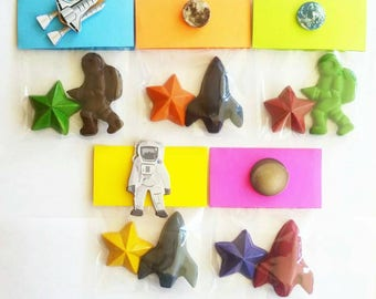 Space Party, Space Favors, Astronaut, Crayons, Rocket Ship, Star, Party Favor Bags, Outer Space, Spaceman, Space Crayons, Party Bags, Gifts