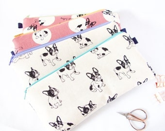 FRENCHIE POUCH. Dog Lover Gift. French Bulldog Bag. Animal Lover. Vet Gift.Frenchie Bag.Animal Lover Gift. Cute Dog Lover Gift.Vet Tech Gift