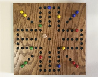 "11"", Aggravation, Game Board, Wood, Glass Marbles, Wooden, Game Boards, Marbles, Marble Board, Marble Game, Aggravation Game Board"