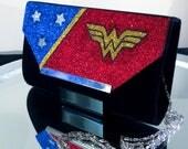 Wonder Woman Inspired Glitter Handbag Clutch