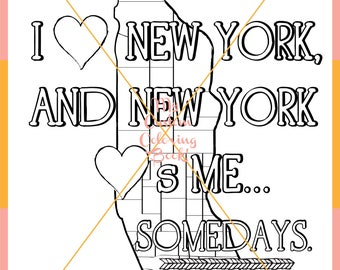 Download I Love New York Coloring Page
