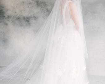 Drop Veil, Bridal Veil, Cathedral Veil, Wedding Veil, Long Veil, Chapel Veil, Double Layer Veil, Circular Veil, Blusher Veil- Style 122 Cady