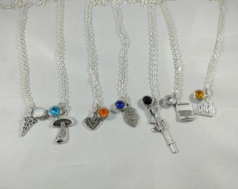 Star Trek Discovery Inspired Mini Jewel and Charm Character Necklaces - All Mains - Paul, Hugh, Michael, Ash, Tilly, Lorca, Saru