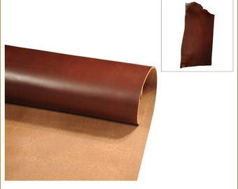 COLMAR-P-collar Brown veg-tanned COWHIDE.