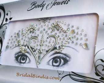 Festive Face Jewels Gem-Bollywood Tika Tikka BINDIS / Temporary Tattos, Temporary tattoos, Bindi Jewelry forehead tikka Gems Bellydance