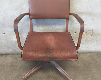 Industrial Brown Rolling Chair by Sturgis (V3ETDC)