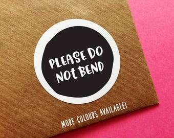 Do Not Bend Labels, Please Do Not Bend Label, Fragile Stickers, Don't Bend Sticker, Happy Mail Sticker, Cute Mail Sticker, Mailing Stickers