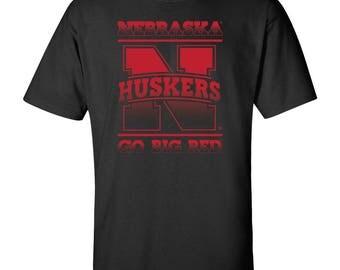 Nebraska Cornhuskers Nebraska Huskers GO BIG RED Tee Shirt Officially Licensed Nebraska Husker Gear And Game Day Apparel
