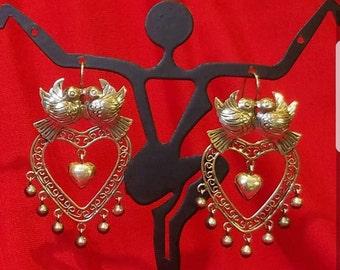 """Love yourself"""" filigree earrings"""