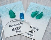 Shades of Teal and Blue Maine Sea Glass Jewelry Set