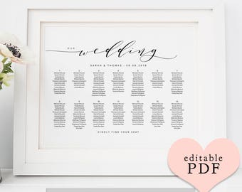 table planner templates