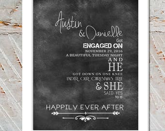 Framed Personalized Engagement gift