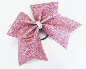 Rose gold cheer bow, Cheer bow, glitter Cheer bow, rose gold glitter cheer bow, cheerleader bow, cheerleading bow, cheer bows, softball bow