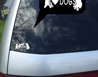 Dog lovers, Dogs decals, computer decals, I love cat decals, car decal,