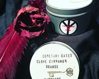 handmade Cemetery Gates soy candle