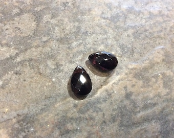 Dark Purple Faceted Glass Teardrop Shape Briolettes 9 x 12mm great for earrings and jewelry making