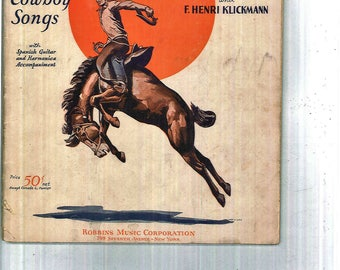 "1934 Music Book "" Songs of the Roundup""  New and Old Cowboy Songs.  61 pages"