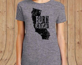 California Born and Bred t shirt- t-Shirt Mens / womens / kids