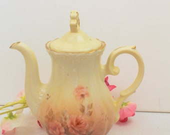 1918 Hand Painted Coffee Pot
