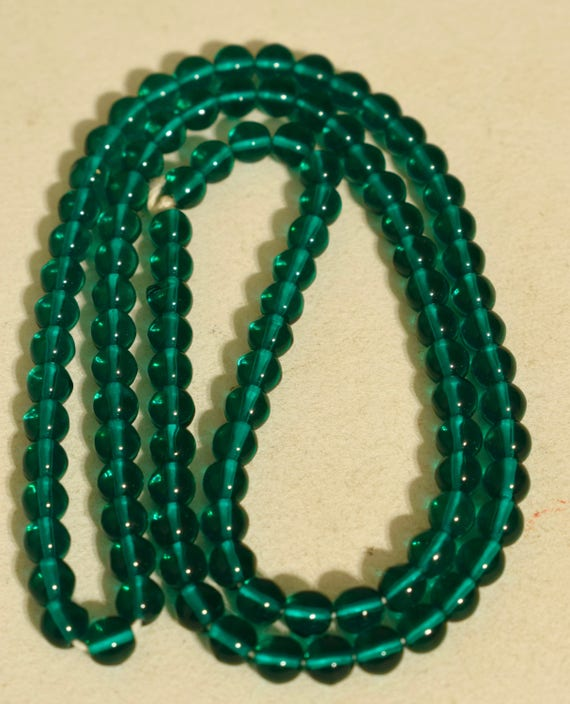 Beads Green Round Glass Jewelry Necklaces India Glass Beads 8mm