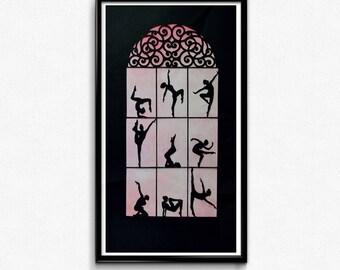 Ballet Print / Ballet Art / Ballerina Art / Ballet Dancer Art / Ballerina Wall Art / Dancer Art / Dancer Wall Art / Ballet Gift / Art Print