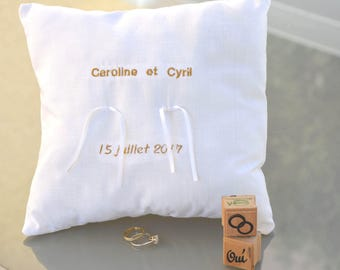 ring bearer pillows personalized wedding, support rings