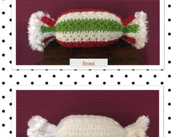 Littlebits Newborn Baby Crocheted Christmas Lolly Posing Pillow/Prop -  Handcrafted & Sold in Australia