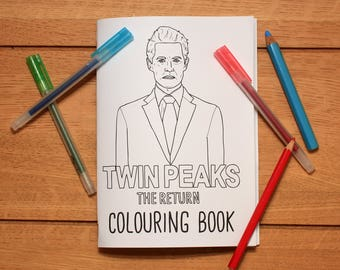 Twin Peaks: The Return colouring book
