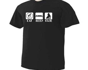 EAT SLEEP RIDE Dirt Bike Motocross Sport T-Shirt
