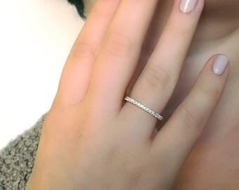 Diamond Eternity Band, Diamond Wedding Band, Yellow Gold Wedding Band, Eternity Wedding Band, Diamond Wedding Band