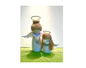 Angel Crochet Pattern -Mother and Child Angel Amigurumi Dolls