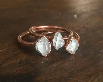 Herkimer Quartz Ring   Herkimer Diamond Ring   Herkimer Diamond Jewelry   Electroformed Ring   Stone Ring   Herkimer Ring   5mm