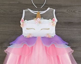 Unicorn Birthday Outfit-unicorn tutu dress-unicorn birthday dress-unicorn dress-first birthday outfit