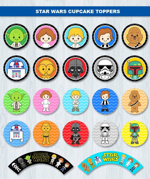 Star Wars Cupcake Toppers, Star Wars Cupcake Wrappers ...