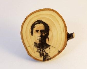 Emma Goldman - Crosscut Wooden Magnet