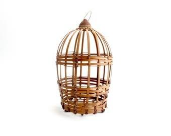 Hand Woven Decorative Bird Cage, Natural/Bohemian Home Decor