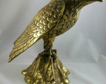 Vintage Brass Eagle Figurine,  Eagle Sculpture